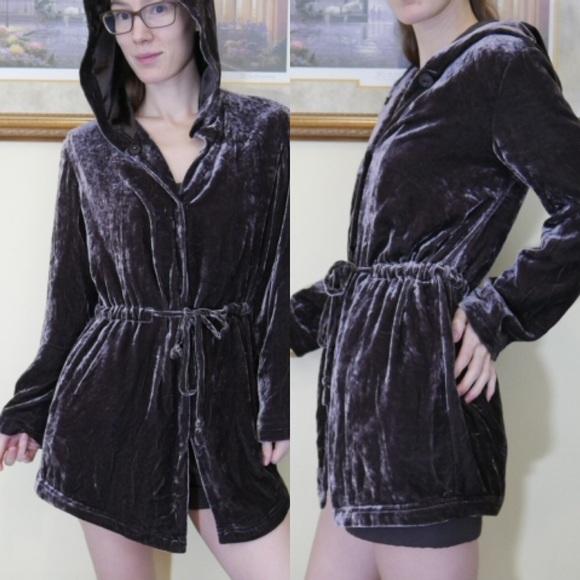 J. Jill Jackets & Blazers - Consignment J. Jill Brown Velvet Elf Jacket